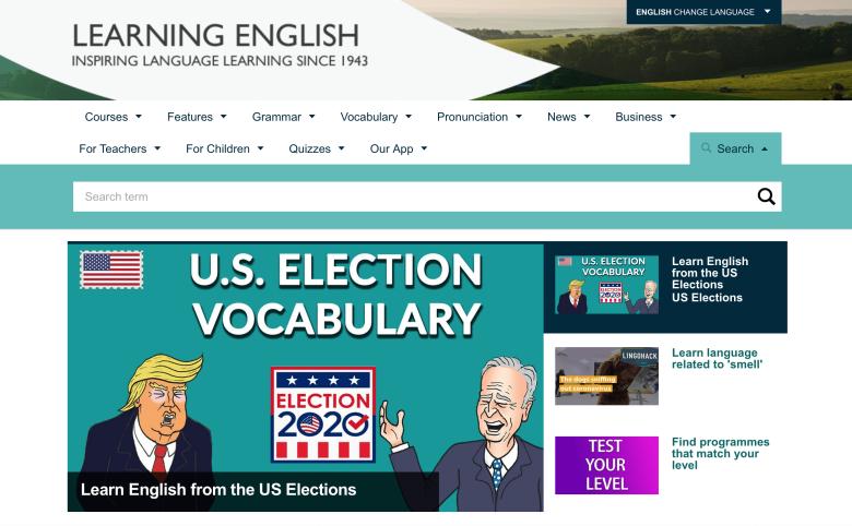 中級者向けの英語リスニング学習サイト